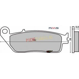 Placute frana (Sinter) Kymco Exciting 500 /Honda CN 250 '87-'94
