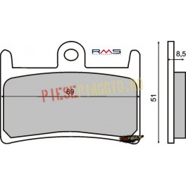 Placute frana (Sinter) Yamaha YZF R7 '99-'01 /FZS 1000 '01-'05 /YZF 1000 '96-'01