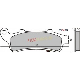 Placute frana Honda Pantheon 4T 125-150 /CB /FJS /VFR /XL /GL