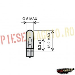 Bec 12V-1.2W T5 (RMS)