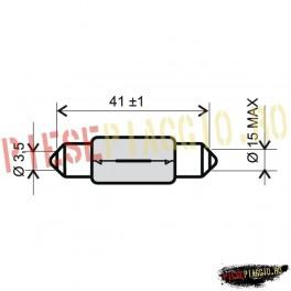 Bec 6V15W T15x42 S8,5 (RMS)