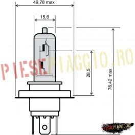 Bec far halogen HS1 12V35/35W PX43T (RMS)