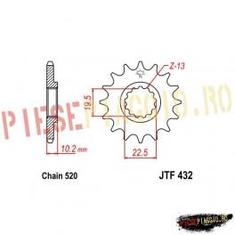 Pinion fata racing Z13 520 - JTF432