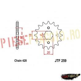 Pinion fata Z16 428 - JTF259