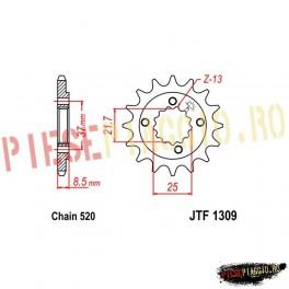 Pinion fata Z14 520 - JTF1309