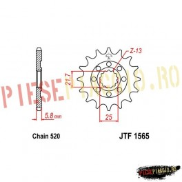 Pinion fata racing Z13 520 - JTF1565