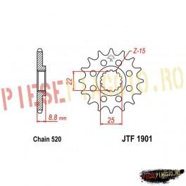 Pinion fata racing Z13 520 - JTF1901
