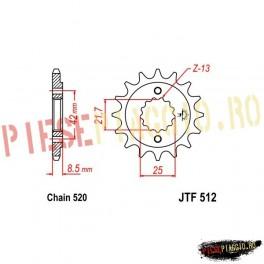 Pinion fata Z16 520 - JTF512