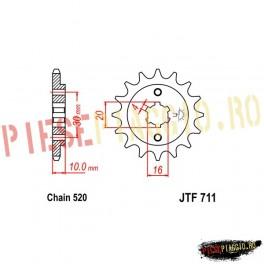 Pinion fata Z13 520 - JTF711