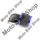 Filtru aer sport d.35mm/cot 90 grade, albastru-conic