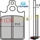 Placute frana Piaggio Skipper 125-150/Quartz 50 (Olympia)