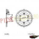 Pinion spate Z54 428 - 15054 (Esjot)