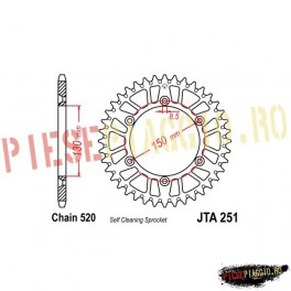 Pinion spate aluminiu Z49 520 - JTA251